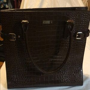 Gorgeous Kate Spade Brown Croc Leather Tote